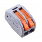 Konektör Hızlı Tel Bağlayıcı ikili gri