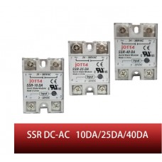 SSR-10DA/25DA/40DA DC kontrol AC SSR beyaz kabuk Tek fazlı Katı hal röle