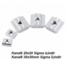 Sigma Profil Somun T Kanal 8 M6