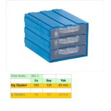 Sembol 302-3 Çekmeceli Kutu 103x135x83mm